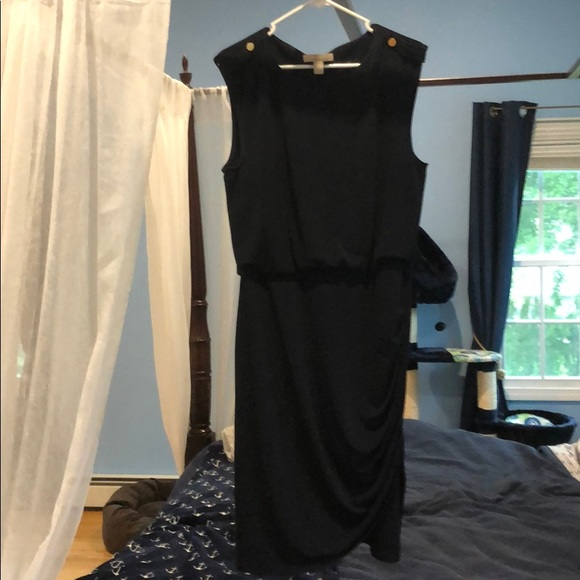 Banana Republic Dresses & Skirts - Navy dress with loose top, fitted skirt